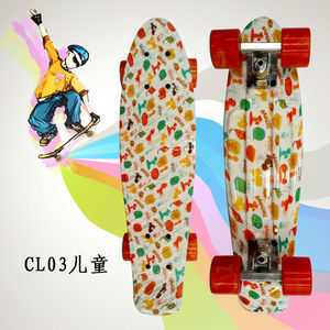 "Image 2 - Complete Peny Board 22"" Colorful Plastic Skateboard Boy Girl Mini Long Board Skate 6Types Available"