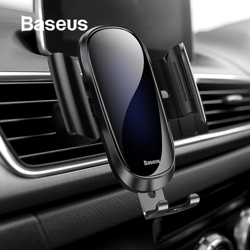 Baseus Universal Car Phone Holder For iPhone X 8 7 6 Samsung S9+ Air Vent Phone Stand Holder Mount Car Smartphone Support HolderBaseus Universal Car Phone Holder For iPhone X 8 7 6 Samsung S9+ Air Vent Phone Stand Holder Mount Car Smartphone Support Holder