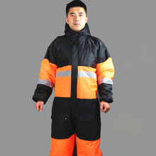 Winter working clothing outdoors thermal protection uniforms mens cotton wadded padded safety clothing thick warm work wear(China)