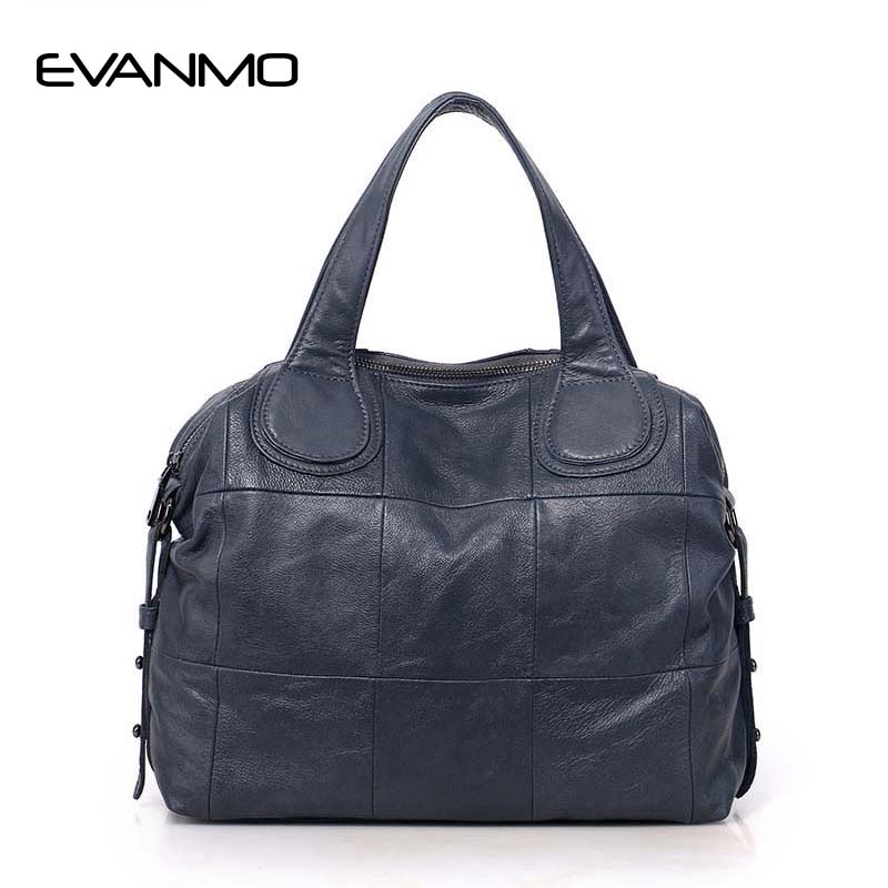 Casual Large Genuine Leather Bag Women Big Shoulder Bags Black Zipper Ladies Bag Bolsas Femininas High Quality Top-Handle Bags new product sales zooler brand zipper cowhide bag top handle shoulder bag simply solid genuine leather bag women bag bolsas c108
