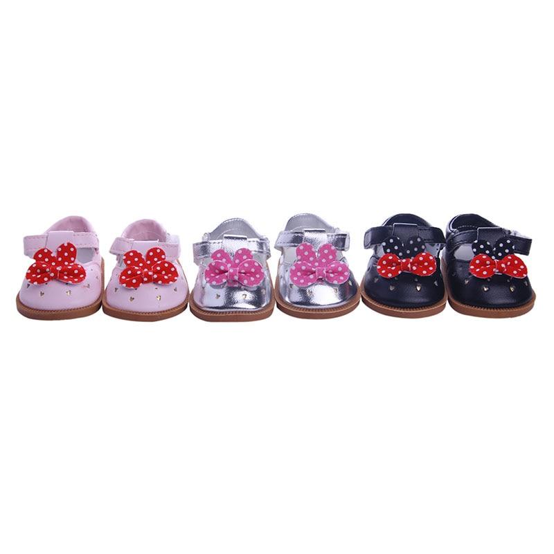 Sapatos de boneca vários estilos de sapatos sapatos de boneca para 18 Polegada american doll & 43 cm acessórios para a geração