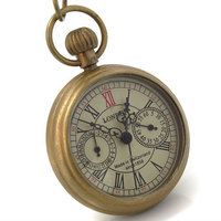 Groothandel Vrouwen Mini Ketting Mechanische Pocket Horloges Rose Emboss Archaized Gift freeship