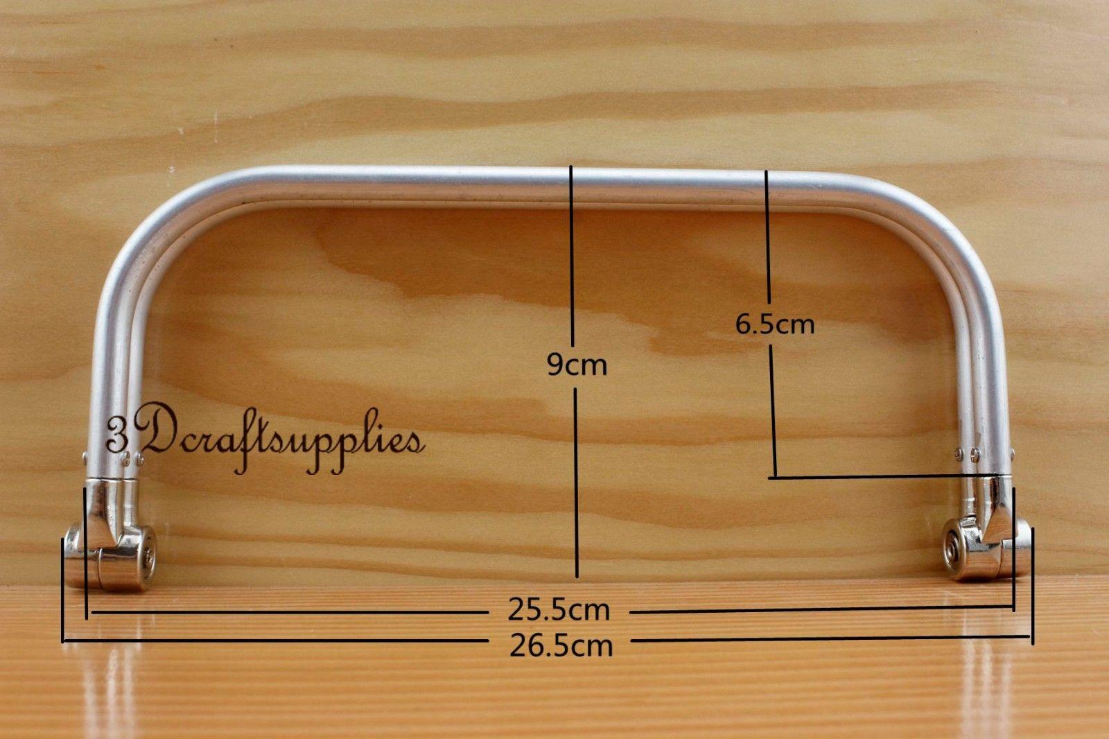 10 Inch Metal Frame Aluminous Tubular Internal Hinge Bag Frame Bag Handle Z25