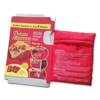 1 ADET YENI Kırmızı Yıkanabilir Ocak Çanta Fırında Patates Mikrodalga Pişirme Patates Hızlı Hızlı