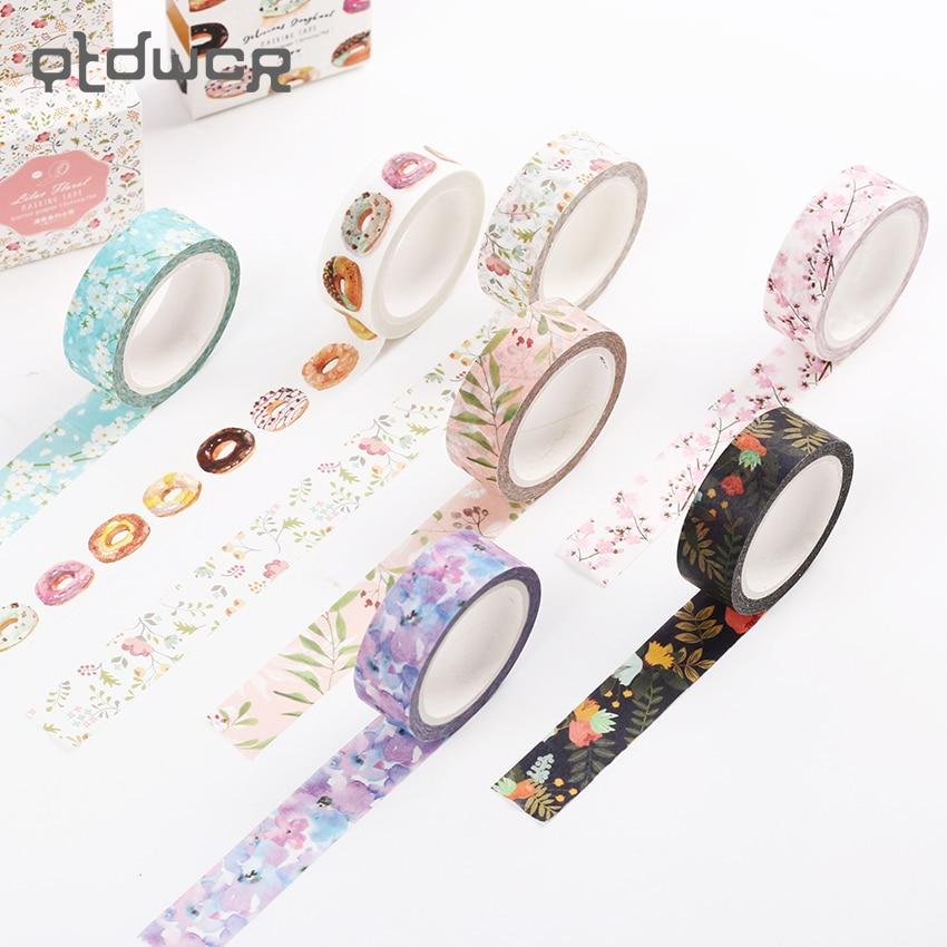 1PC Original Dream Watercolor Painting Washi Tape Adhesive Craft Tape DIY Scrapbooking Sticker Masking Craft Tape 7m