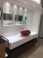 1800X500X550mm Wall Mounted Double layers Vanity Push Push 6 Drawers Bathroom Cabinet Come With Sink Mirror WD9999
