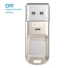DM PD065 32GB 64G High-speed Recognition Fingerprint Encrypted USB Flash Drives High tech Pen Drive Security Memory USB Stick