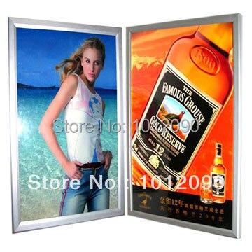 Livraison gratuite affiche personnalisée en alliage d'aluminium affiche cadre cadre photo montage mural publicité affiche (impression gratuite)