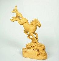 Самшит животных Резные деревянные скачки ручной работы дизайнер товары для дома фестиваль подарок Творческий офис desktop украшения