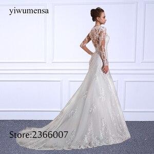 Image 5 - Luxury Mermaid Wedding Dress Plus Size Long Sleeves Bridal Gowns Sweep Train Vestido De Novias Bride Dresses Robe De Mariee 2020