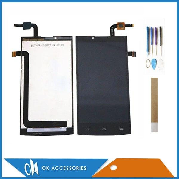 5,0 дюймов для Philips Xenium S398 ЖК-дисплей + сенсорный экран дигитайзер высокое качество черный цвет с инструментами лента