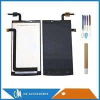 Pantalla LCD de 5,0 pulgadas para Philips Xenium S398 + Digitalizador de pantalla táctil Color negro de alta calidad con cinta de herramientas