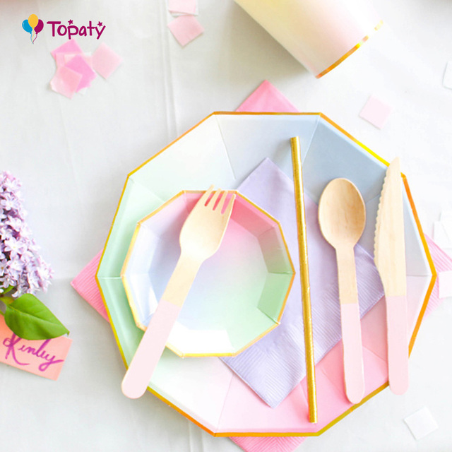 Party Paper Plates Cups Colorful Disposable Tableware For Event Theme Party Celebration Wedding Table Decor Supplies  sc 1 st  AliExpress.com & Party Paper Plates Cups Colorful Disposable Tableware For Event ...