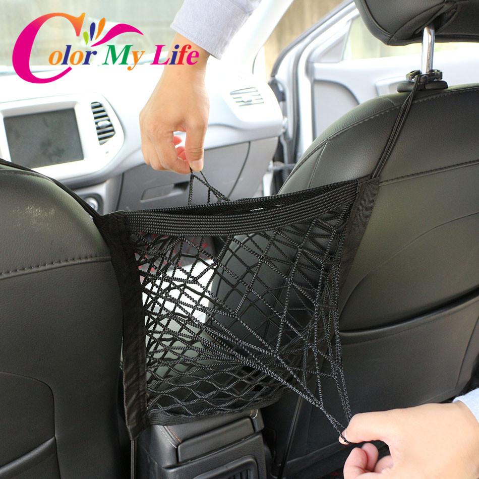 Color My Life Car Seat Back Bag Armrest Seats Storage Organizer for Ford Focus 2 3 4 Fiesta Ecosport Kuga Escape Mondeo Everest