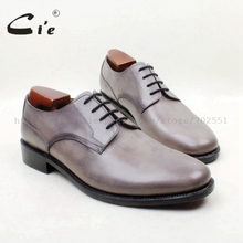 cie Free Shipping Bespoke Custom Handmade Round Plain Toe Light Grey Hand Painted Lace up Derby