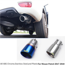 Free shipping For Nissan Patrol 2017 2018 car muffler exterior end pipe outlet dedicate stainless steel exhaust tip tail 1pcs