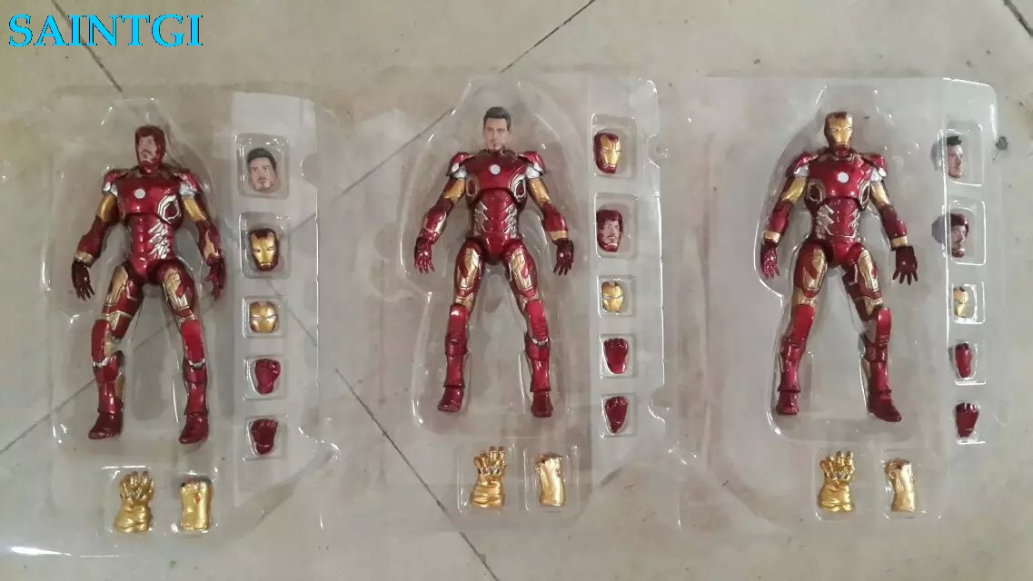 SAINTGI 1pcs Captain America 3 war machine Civil War Avengers Iron Man MARVEL hulk buster deadpool hawkye antman spiderman yenom 1 6 scale male head sculpts model toys downey jr iron man 3 captain america civil war tony with neck sets mk45 model collecti f