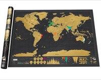 1 개 문구 스토어 매핑 디럭스 블랙 스크래치 오프 세계
