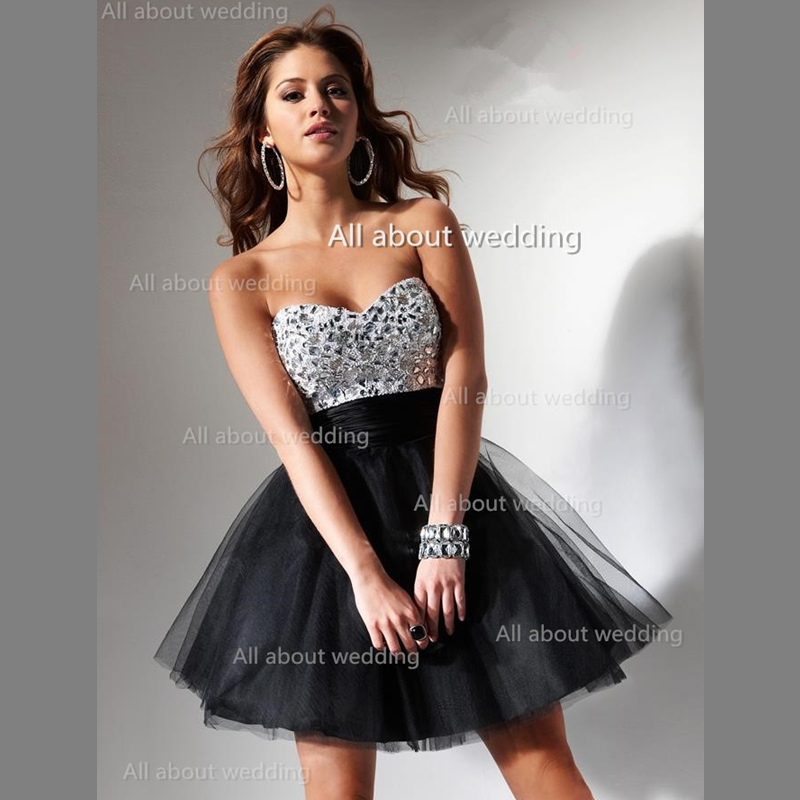 Silver And Black Homecoming Dresses - Missy Dress