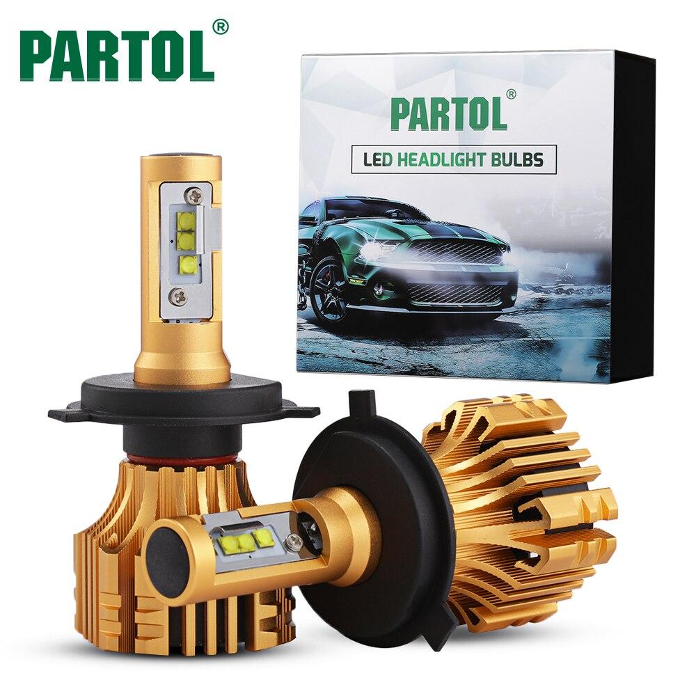 Partol S6 70W H1 H4 H7 H11 H13 9005 9006 LED Headlight Bulbs <font><b>Fog</b></font> <font><b>Lights</b></font> LED Car <font><b>Lights</b></font> Auto Headlamp Bulb 7000LM 6500K 12V 24V