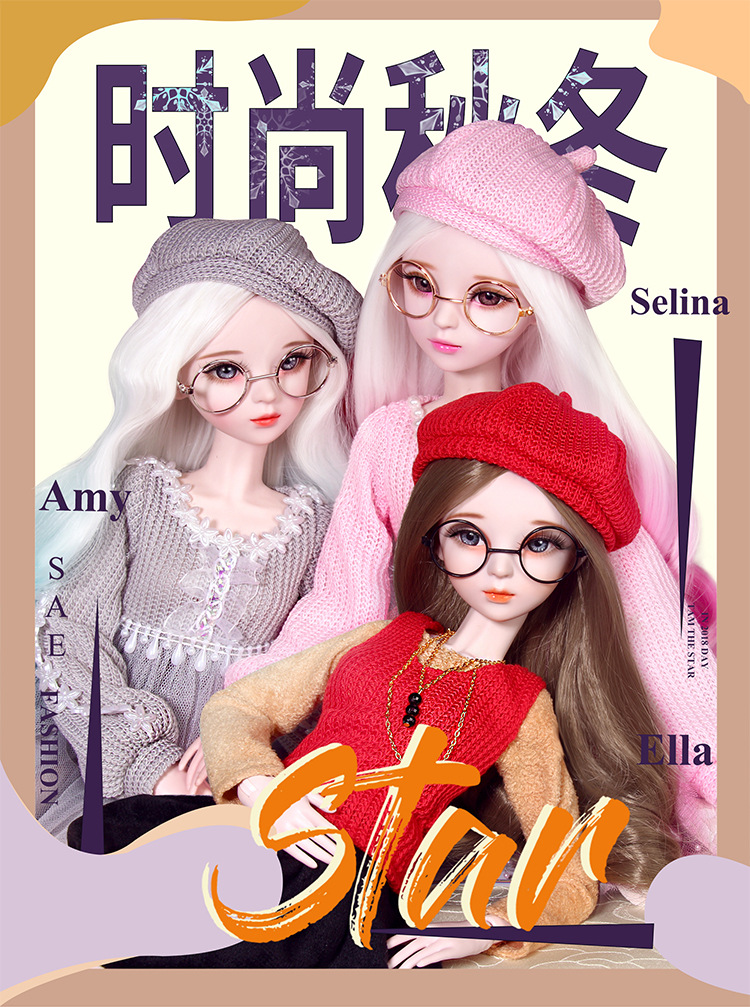 Have An Inquiring Mind 1/3 Doll Full Set 23 Jointed Doll Girls Toys Gifts Large Lifelike Fashion Modern Girl Dolls Handmade Bjd Fashion Princess Lustrous Surface Action & Toy Figures
