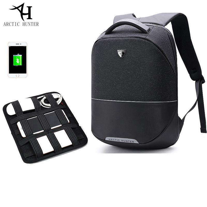ARCTIC HUNTER Business Travel USB Backpack Men Anti-theft 15inch Laptop backpack waterproof men's Casual Back pack bag Women augur 2018 brand men backpack waterproof 15inch laptop back teenage college dayback larger capacity travel bag pack for male