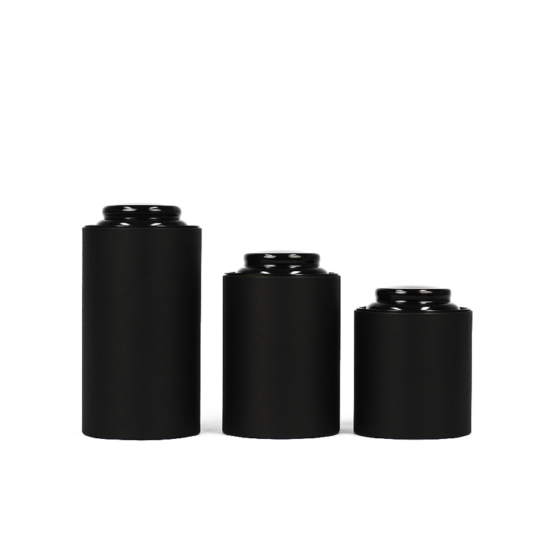 Xin Jia Yi Packaging Box Blank Black Craft Paper Round Shape Different Capacity Tea Tubes With 5 Different Sizes Glove Sock Box