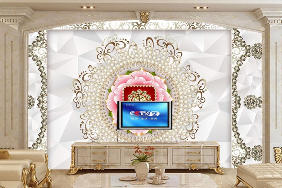 Noble luxury pearl pattern 3D wallpaper large murals,living room sofa TV wall bedroom 3d stereoscopic wallpaper papel de parede fantasy flowers 3d fashion large wall mural painting living room bedroom 3d wallpaper tv backdrop stereoscopic 3d wallpaper
