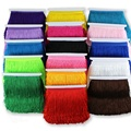 Hot 10 Meters 15cm Long Fringe Lace Tassel Polyester Lace Trim Ribbon Sew Latin Dress Stage Garment Curtain DIY Accessories