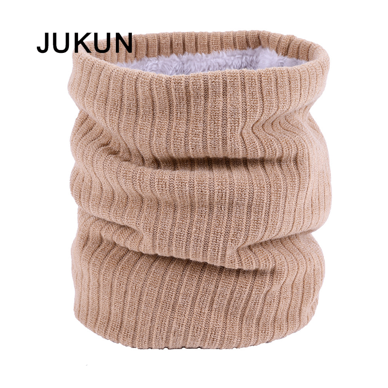 Autumn Winter Velvet Knitting Collar Couples Leisure Warmth Pure Color Men And Women With Korean Version Scarf