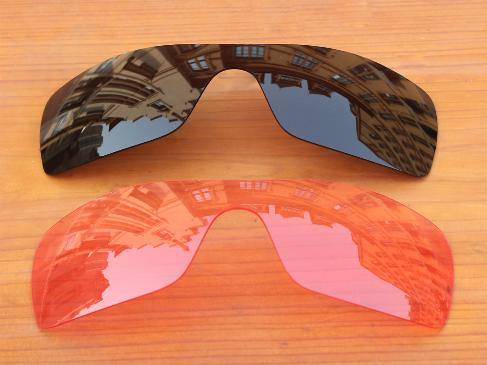 adfbe69604 Black   Crystal Pink 2 Pieces Replacement Lenses For Batwolf Sunglasses  Frame 100% UVA   UVB Protection