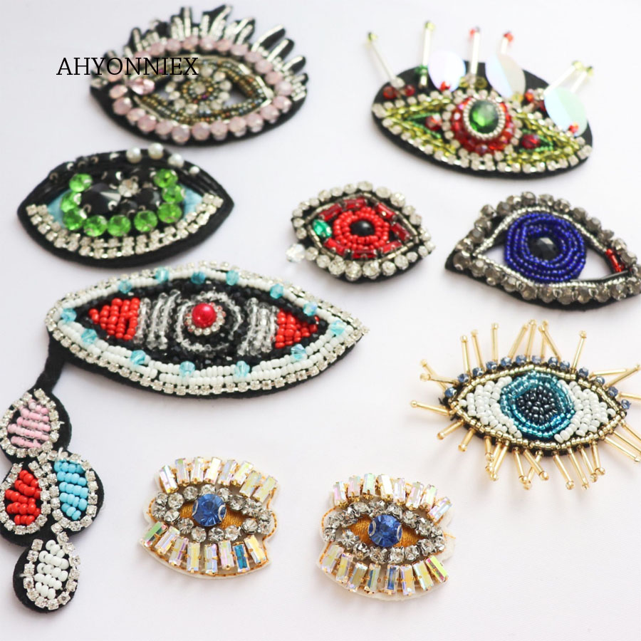 8 Style Patch Embroidered Iron On Applique patches for clothes DIY AccessoriesJS