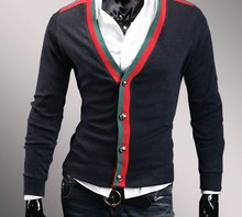 Autumn and Winter Men's Knitted Wear Casual Sweater Men's Cardigan