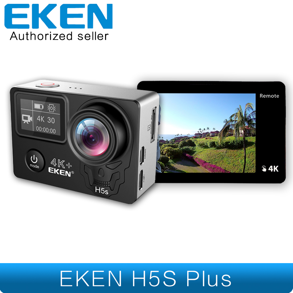 EKEN H5s Plus 4 K + Ambarella A12 Chipset 4 K 30fps Ultra HD EIS pantalla táctil Wifi cámara de casco de la motocicleta bajo el agua H5s + Cámara