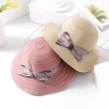 Mingjiebihuo Coreano nova moda fios de algodão feminino verão ao ar livre  protetor solar chapéu de sol arco chapéu de palha chap. d956aae1dbe