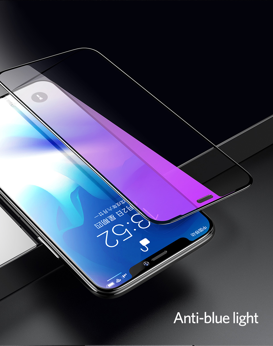 Benks 0.3mm Full Cover Tempered Glass For iPhone XS 5.8'' XS MAX 6.5'' XR 6.1 HD Screen Protector Anti Blu Ray Glass Front Film (14)