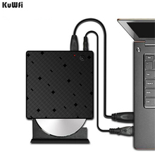 KuWFi Type C USB 3.1 External DVD/CD Burner RW CD/DVD ROM Drive Player Optical Drive for Mac/PC/Apple Laptop/OS/Windows цена 2017