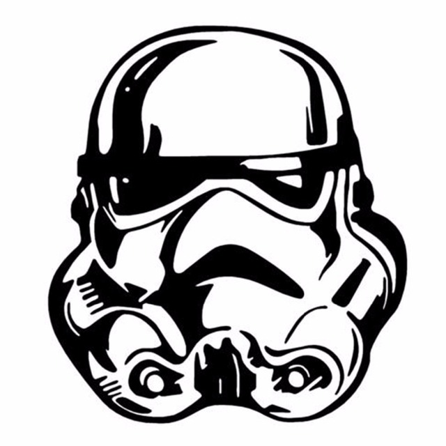Star wars storm trooper face vinyl wall art decal sticker cinema sci fi movie printed