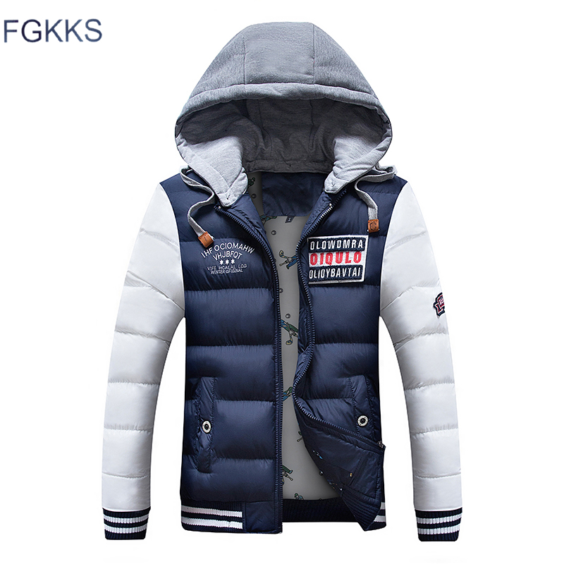 FGKKS Fashion   Parka   Men Jacket Warm Coat Winter Casual   Parka   Medium-Long Thickening Coat Men For   Parka