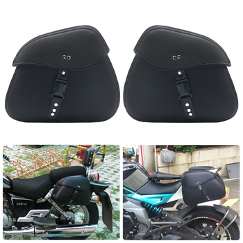 Motorcycle saddle bag side storage triangle bag waterproof sports version storage tool triangle bag Black snap medium