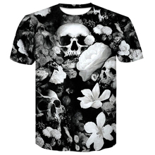 Newest Brand Skull short sleeve T shirt summer 2019 Clothes Punk Clothing Gothic Tshirt Funny Tees Men Hip hop High Quality