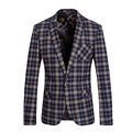 Men Blazer 2017 Mens Plaid Blazer Custom Fit Blazer For Men Stage Costumes For Singers Vintage Suits Party Prom Dresses