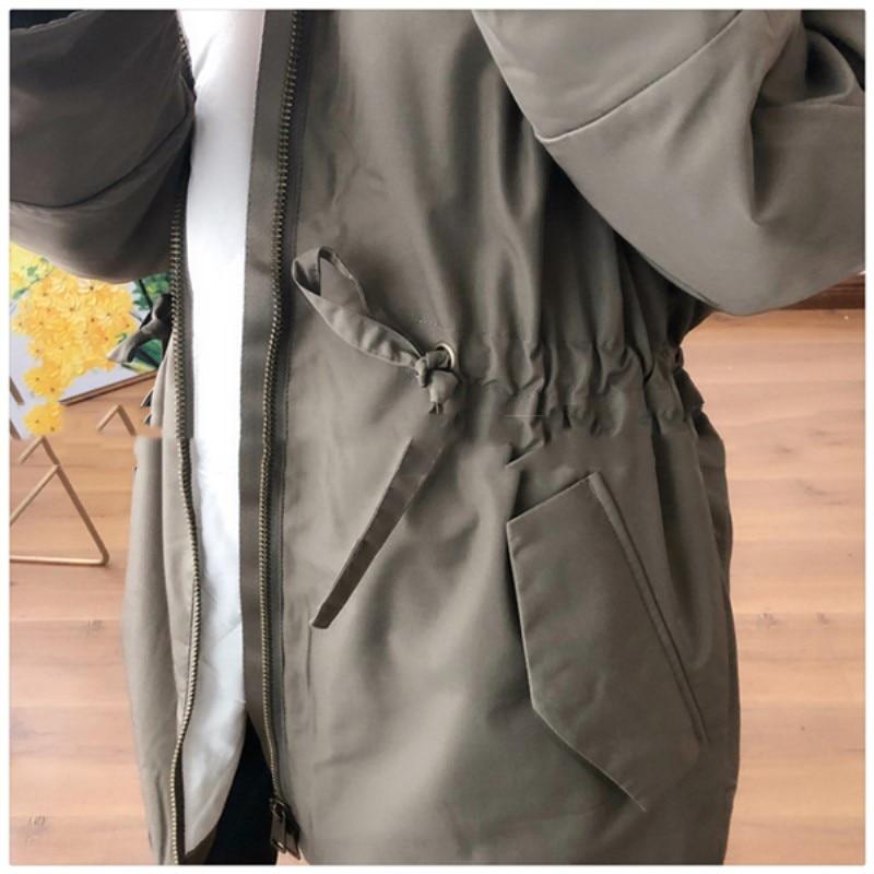 Automne Coton Survêtement Épaissir Externe Solide Mode Manteau D'hiver Hiver 2018 Veste Army Cz167 Green Chaleur À De Casual Femmes Capuchon dvnc1PFW