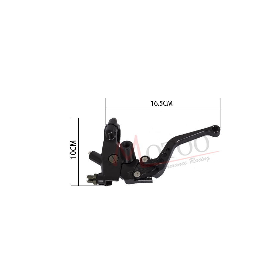 Motoo - Racing Universal CNC 22mm Motorcycle Brake Clutch Levers Master Cylinder Reservoir Set For Honda Suzuki Kawasaki Yamaha