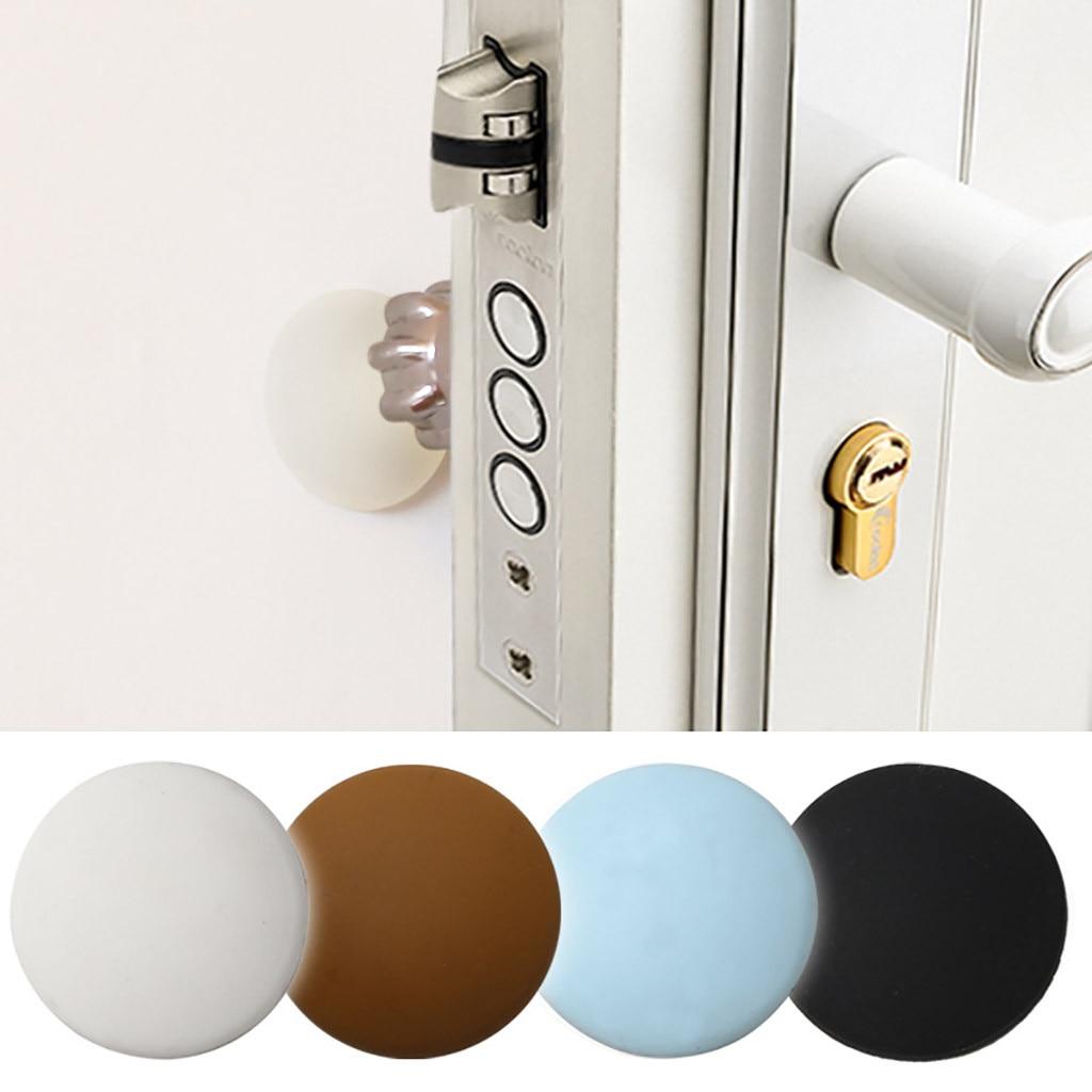 1pc/2pcs/4pcs Wall Protector Door Handle Bumper Guard Stopper Self Adhesive Rubber Round Home Back Door Crash Pad#3$