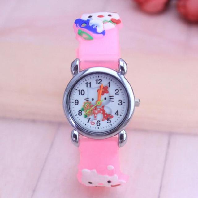 Hello kitty watch cartoon quartz watches children wristwatch for kid child baby