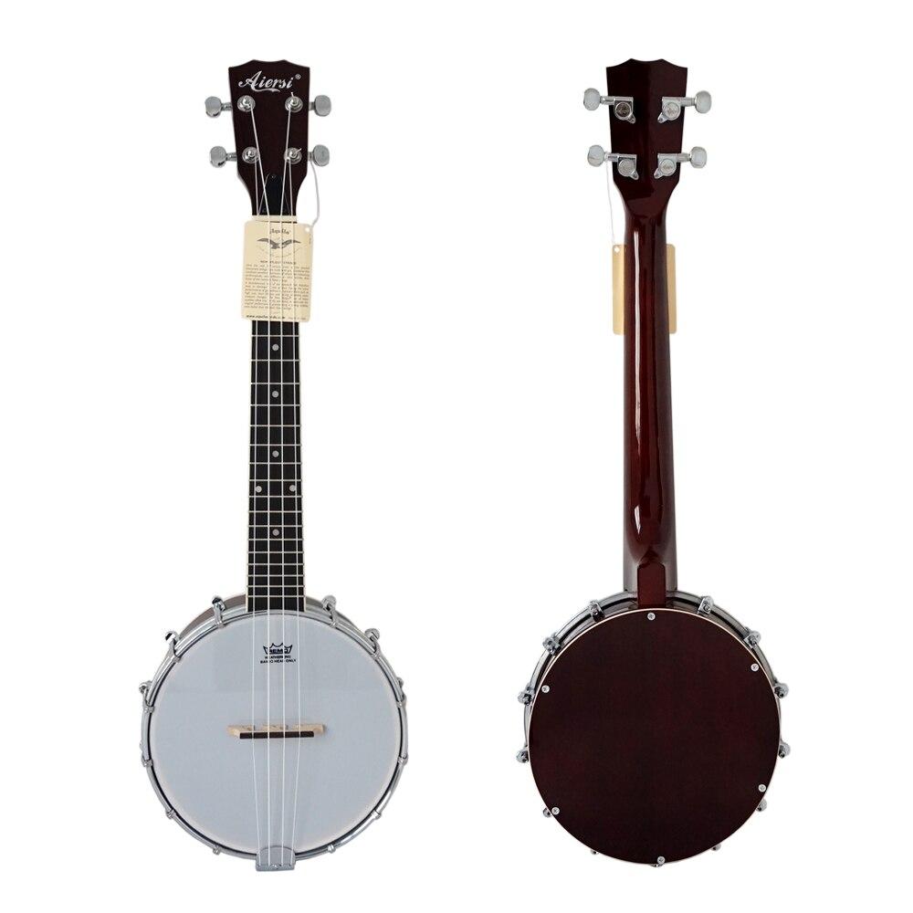 Chine Aiersi marque offre spéciale Concert ténor Banjo Instrument de musique ukulélé avec couverture de résonateur en acajou