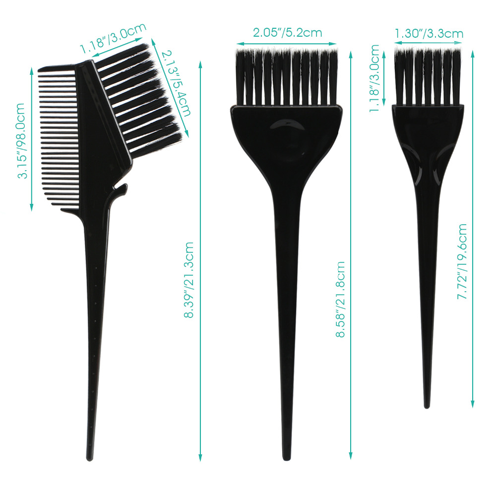 Hair Color Brushes, 7pcs Feather Bristles On Hair Dye DIY/Professional Tint Brush Set For Bleached