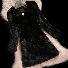 2016 Luxury Ladies Real Piece Mink Fur Coat Jacket Autumn Winter Women Fur Outerwear Coats Overcoat