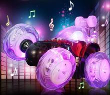 Ride On Cars Med lette stunt dumpere genopladelige elektriske fjernbetjening bil rullende flip legetøj bil off-road gaver til børn